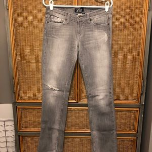 Lucky Brand Gray distressed Jeans Size 6/28